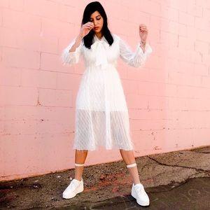 Dresses & Skirts - Shredded Chiffon Babydoll Dress 🤤